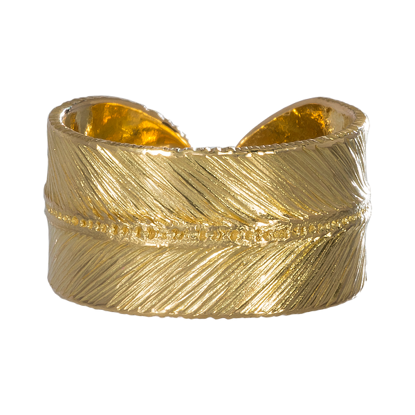 Gold Feather Ring 2