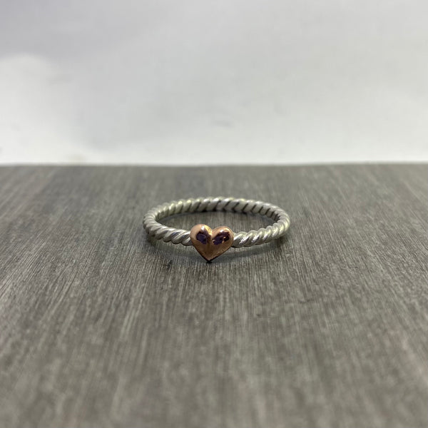 Teeny heart Ring #2