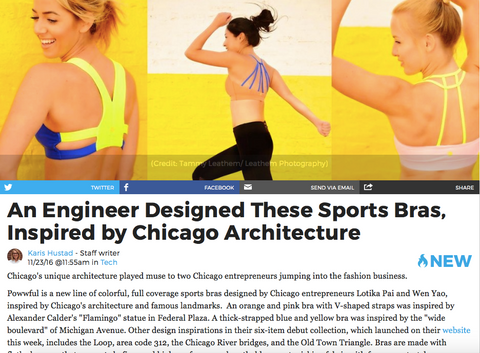 Chicago Inno: An Engineer Designed These Sports Bras