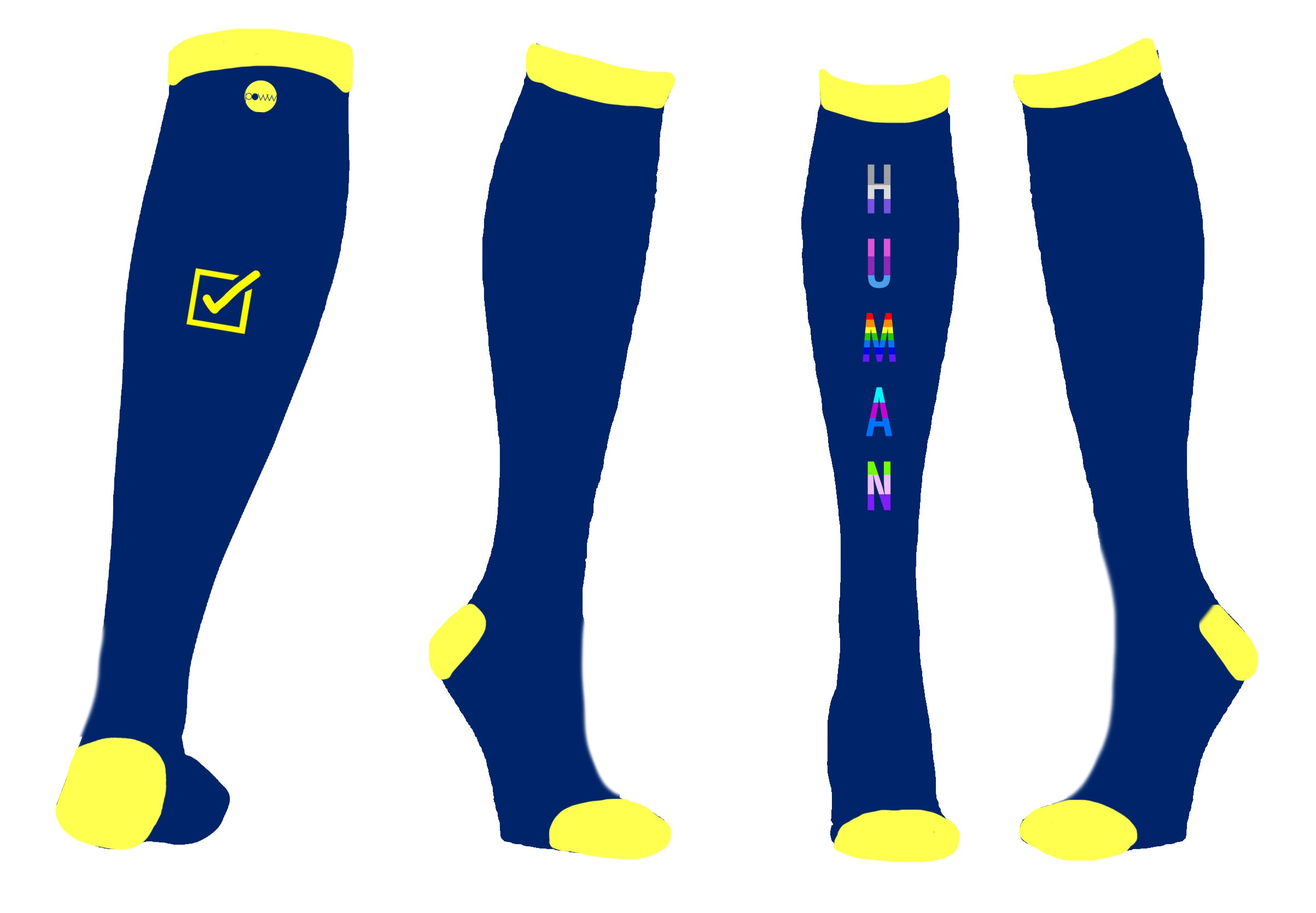 Power Socks - We Are All Human - Design Inspiration