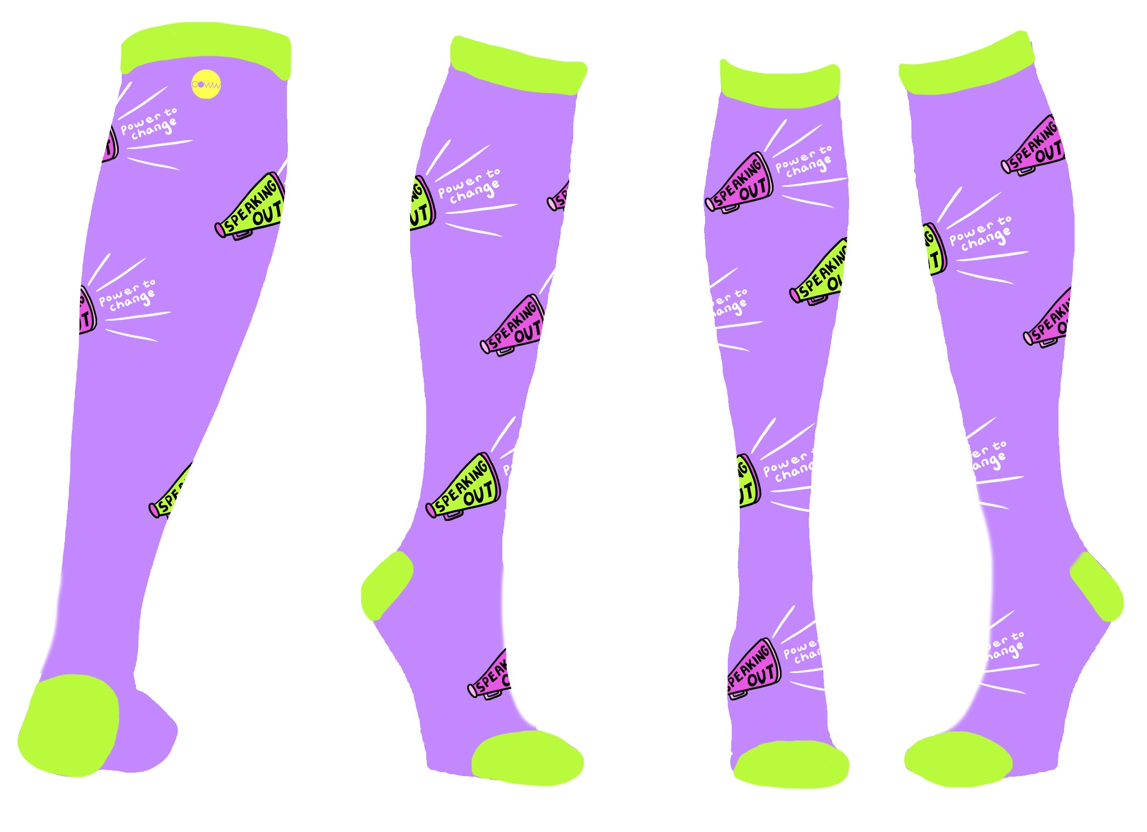 Power Socks - Speaking Out - Design Inspiration