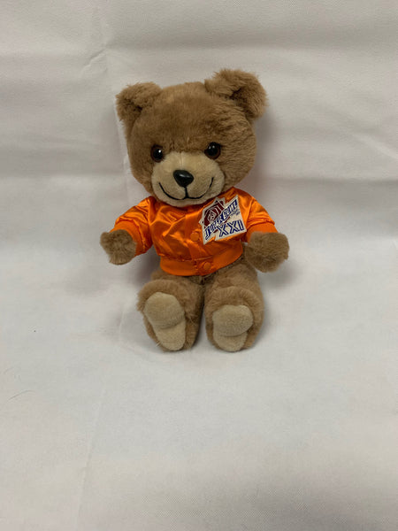 New York Giants / Denver Broncos Super Bowl XXI 21 NFL Stuffed Teddy Bear RARE