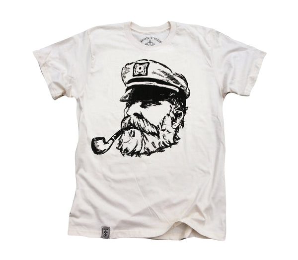 Old Sea Captain: Organic Fine Jersey Short Sleeve T-Shirt in Unbleached Natural