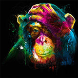 Colorful apes Ink Painting Oil Painting Picture Prints Oil Painting for Home