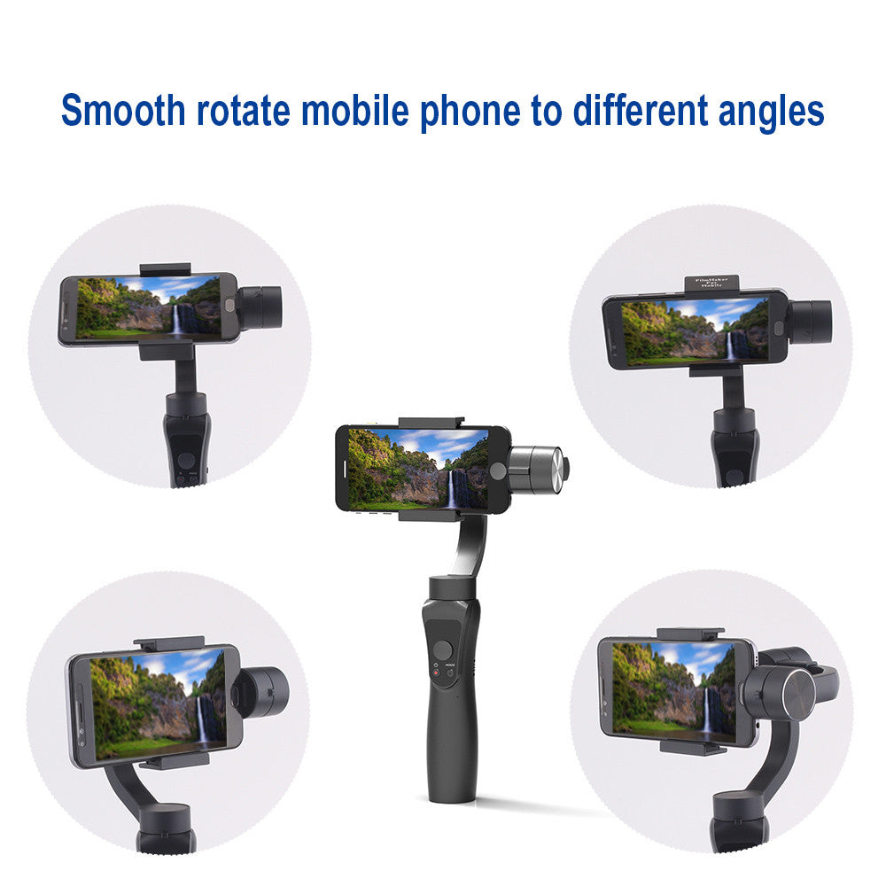 JXR-S5 3-axis Handheld Gimbal w/ Tripod Tray Stabilizer Selfie Stick for Smartphone Gopro