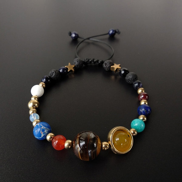 9 Planets Pluto Universe Bangles & Bracelets Fashion Jewelry Galaxy Solar System Bracelet For Women or Men 2019