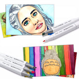Single Colors Sketch Markers Alcohol Based Dual Head Brush Markers Pen For Drawing Manga Art Supplies Markers