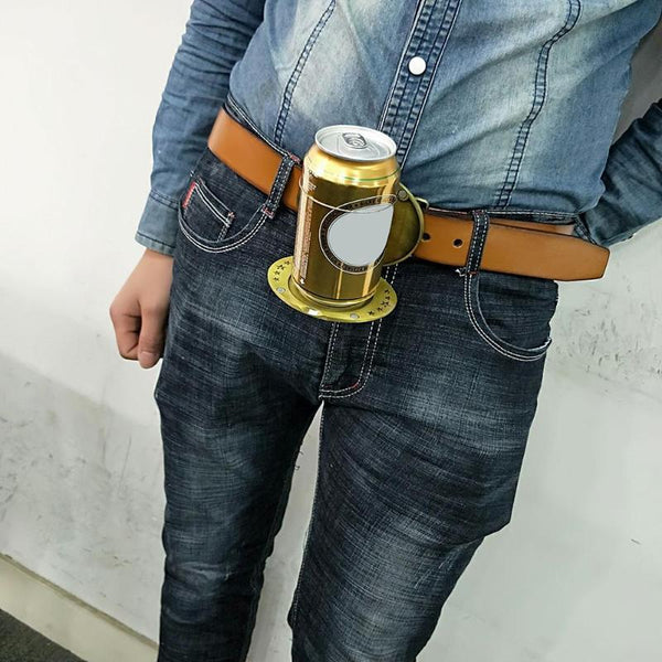 Belt Buckle Beer Holder Always have a place for your beer, also an awesome belt buckle! Two great items in one!