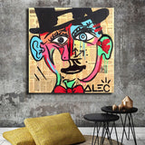Picasso Poster Alec Monopolyingly Paintings On Canvas Modern Art Decorative Wall Pictures Home Children's Room Decoration