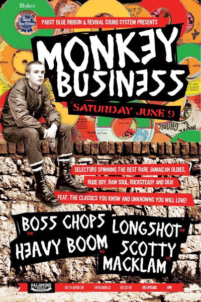 Pop-up Shop Monkey Business; Jamaican oldies, raw soul, rocksteady and ska