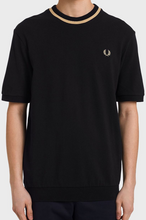 Load image into Gallery viewer, Fred Perry - Reissue M7 T-Shirt Black/Champagne
