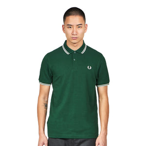 Fred Perry - M3600 in Ivy / White / White