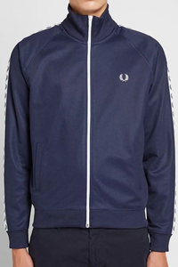 Fred Perry - J6231 Taped Track Jacket in Carbon Blue
