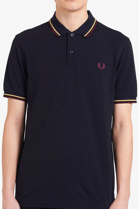 Fred Perry - M3600 in Navy / Champagne / Mahogany