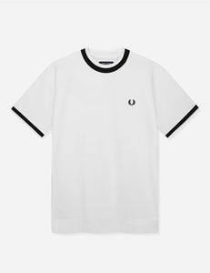 Fred Perry - M7605 Raglan Sweat Top in Snow White