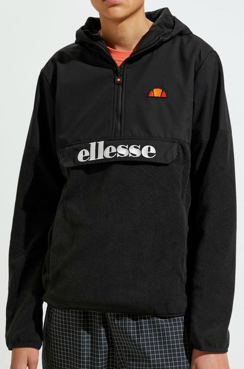 Ellesse - 1/2 Zip Esine Overhead Fleece Jacket - Black