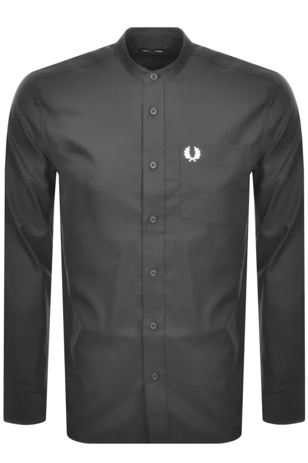 Fred Perry - M7606 Grandad Collar Shirt Grey