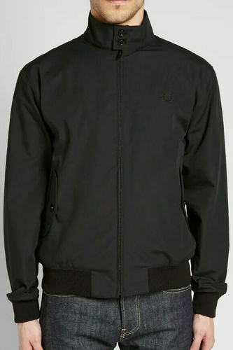 Fred Perry - Made in England Harrington Jacket J7320 in Black