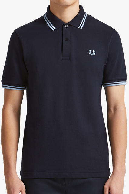 Fred Perry - M12 Polo Shirt in Navy/Ice