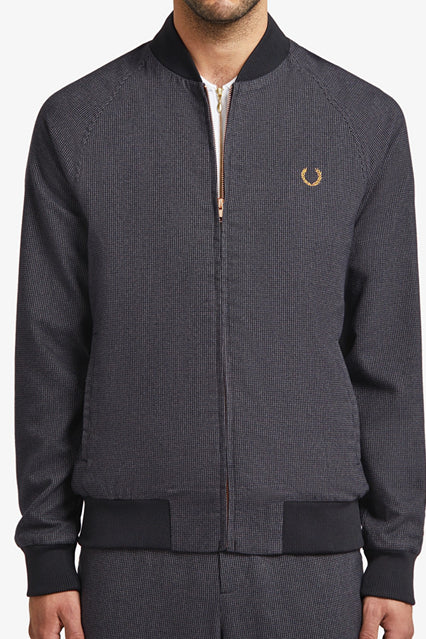 Fred Perry - Miles Kane Houndstooth Bomber Jacket SJ7006