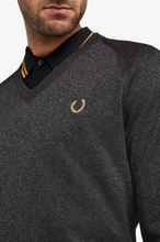 Load image into Gallery viewer, Fred Perry - Miles Kane Metallic V-Neck Sweater SK7016