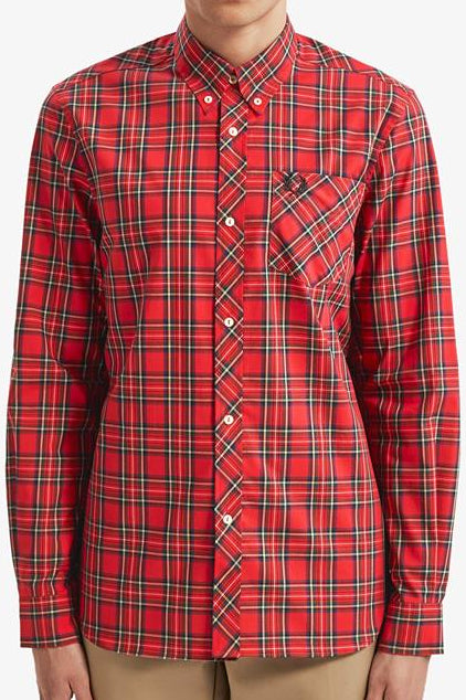 Fred Perry - Reissue M7307 Tartan Shirt in Red