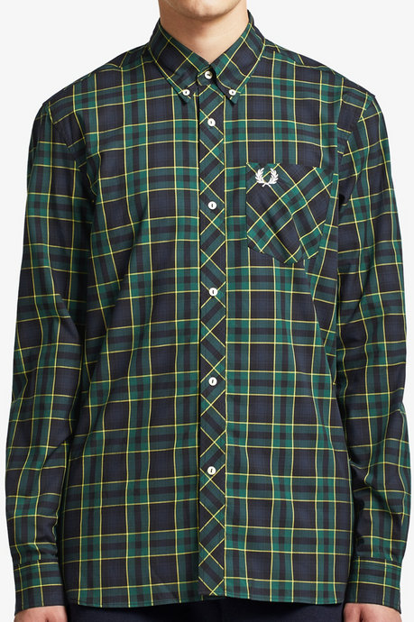 Fred Perry - Reissues M7307 Tartan Shirt in Green