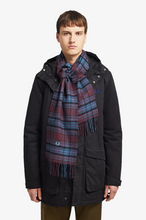 Load image into Gallery viewer, Fred Perry - Winter Tartan Scarf C7156 in Mahogany