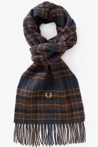 Fred Perry - Winter Tartan Scarf C7156 in Midnight Blue