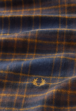 Load image into Gallery viewer, Fred Perry - Winter Tartan Scarf C7156 in Midnight Blue