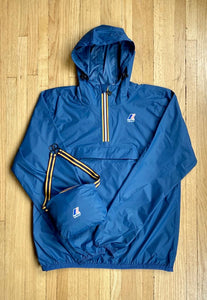 K-Way - Overhead 1/2 Zip Leon Jacket - Blue Deep