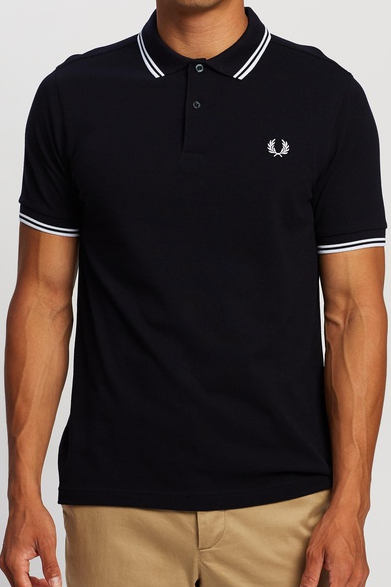 Fred Perry - M3600 in Black / Porc / Porc