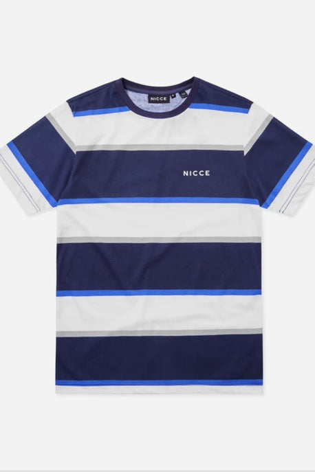 NICCE - Colum Striped T-shirt in Deep Navy