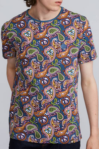 Pretty Green - T-Shirt Paisley