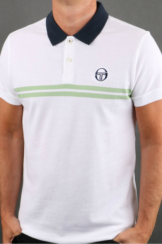 Sergio Tacchini - Supermac Polo Archivo in White
