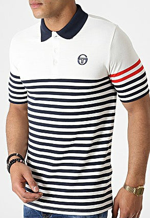 Sergio Tacchini - Cooper Polo in Ivory/Navy