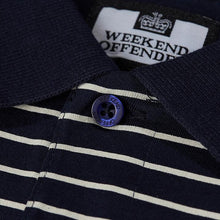 Load image into Gallery viewer, Weekend Offender - Ervin Striped Polo in Navy