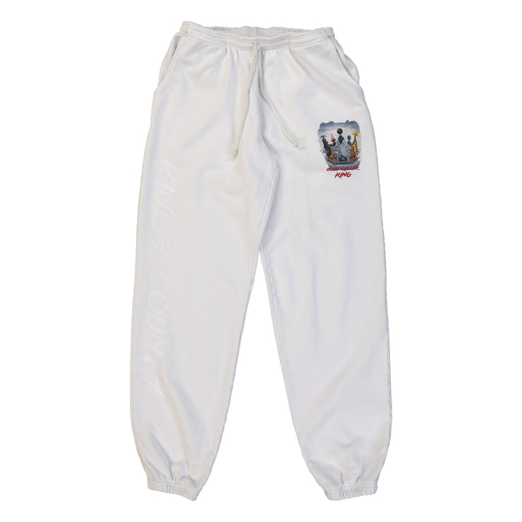 Blue Collar King Sweatpants (White)
