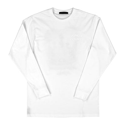 Blue Collar Crown Longsleeve (White)