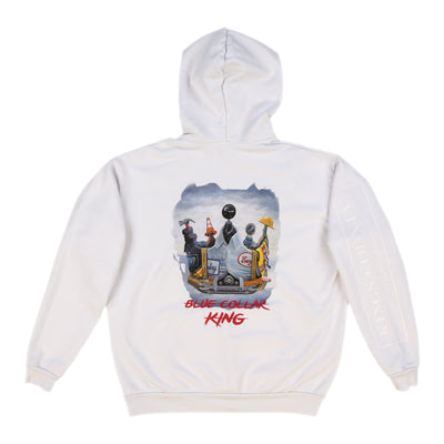Blue Collar King Hoodie (White)
