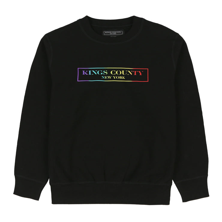 RAINBOW BOX LOGO CREWNECK