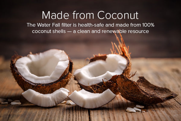 KOR Water Fall Use Coconut to filter water