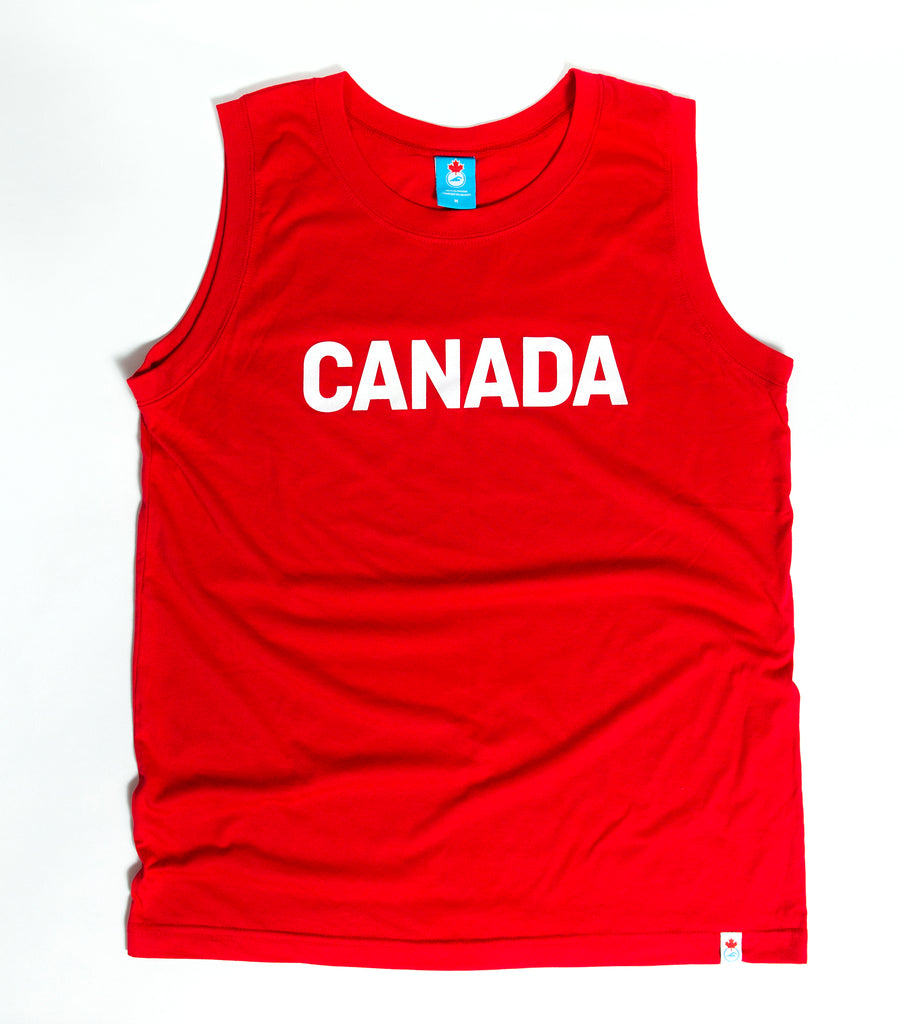 Men's Team Canada Red Tank Top