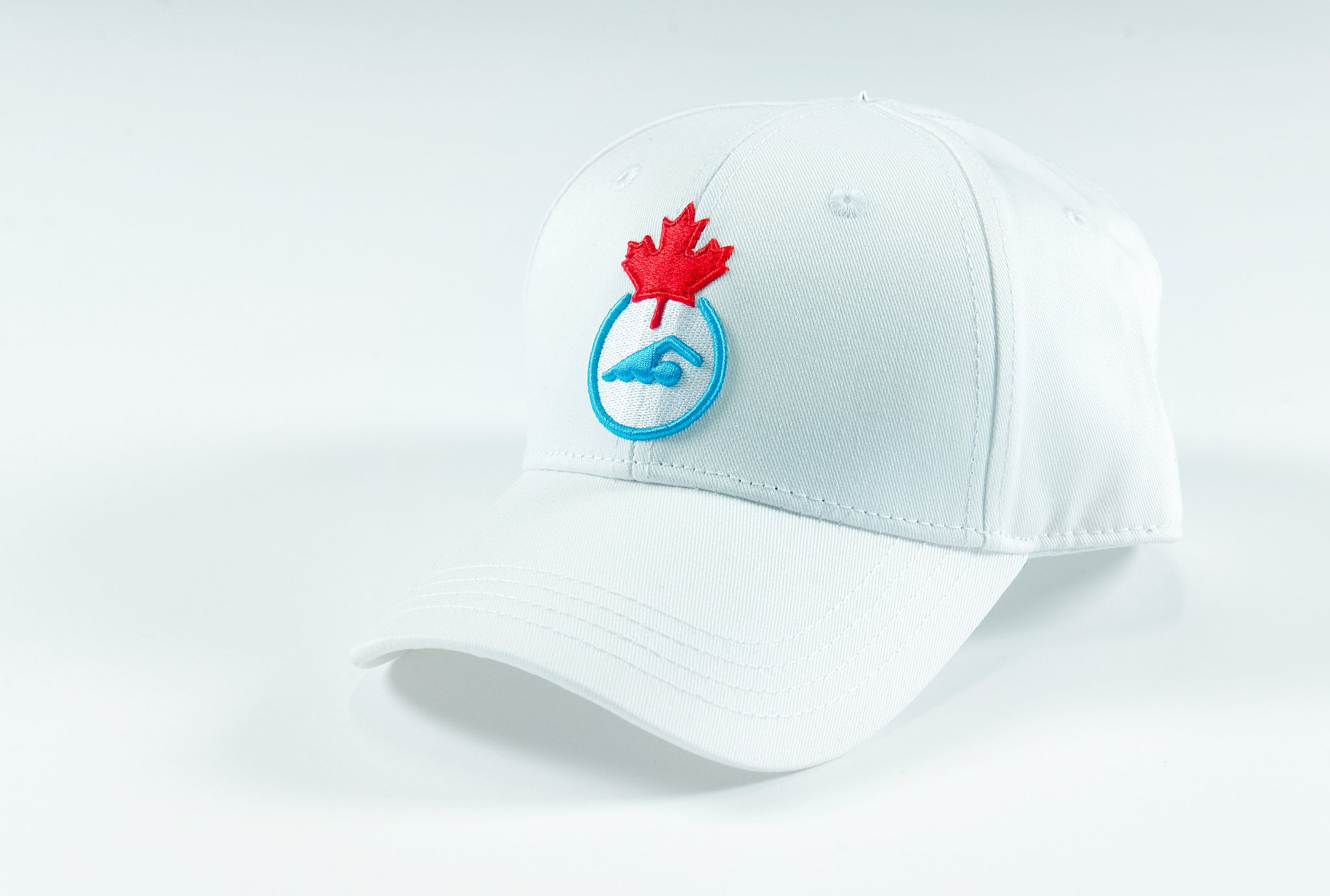 Swimming Canada White Baseball Cap