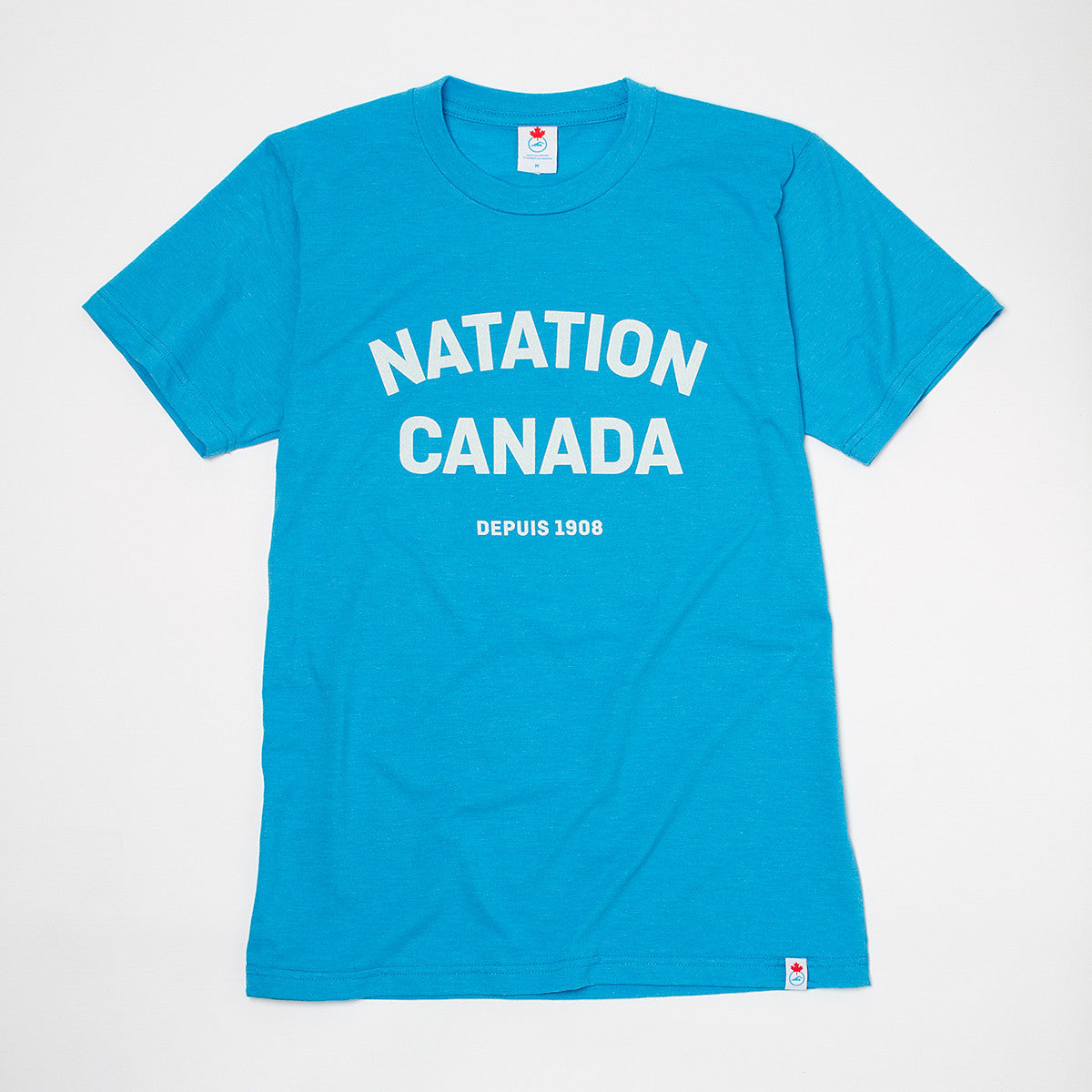 Men's Natation Canada Heather Blue Short Sleeve T-shirt