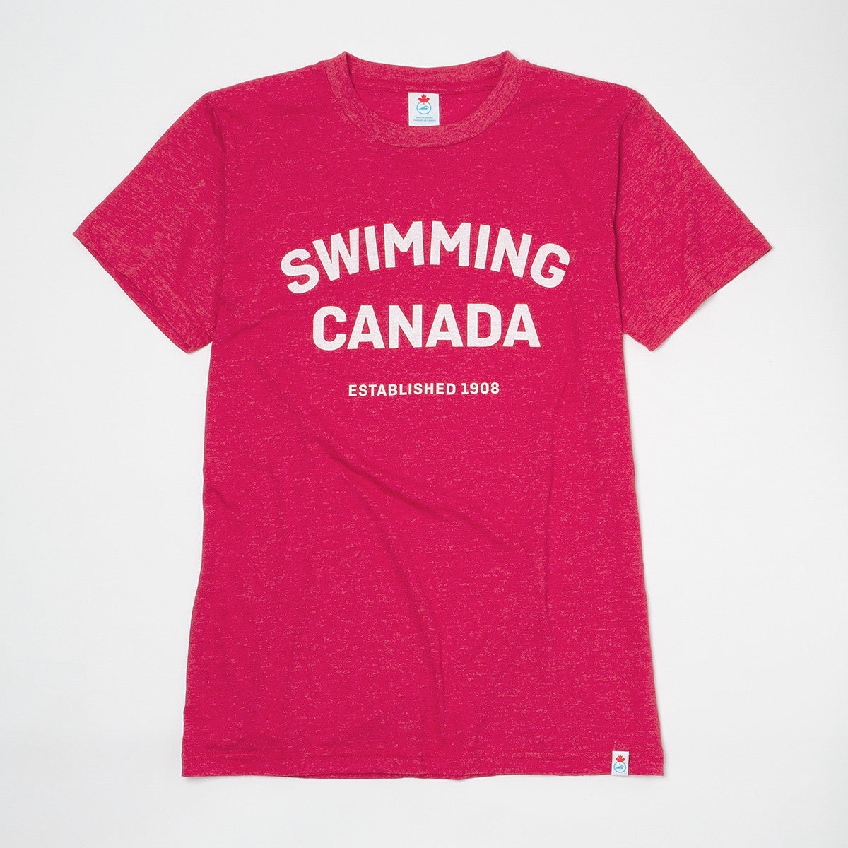 Men's Swimming Canada Heather Red Short Sleeve T-shirt
