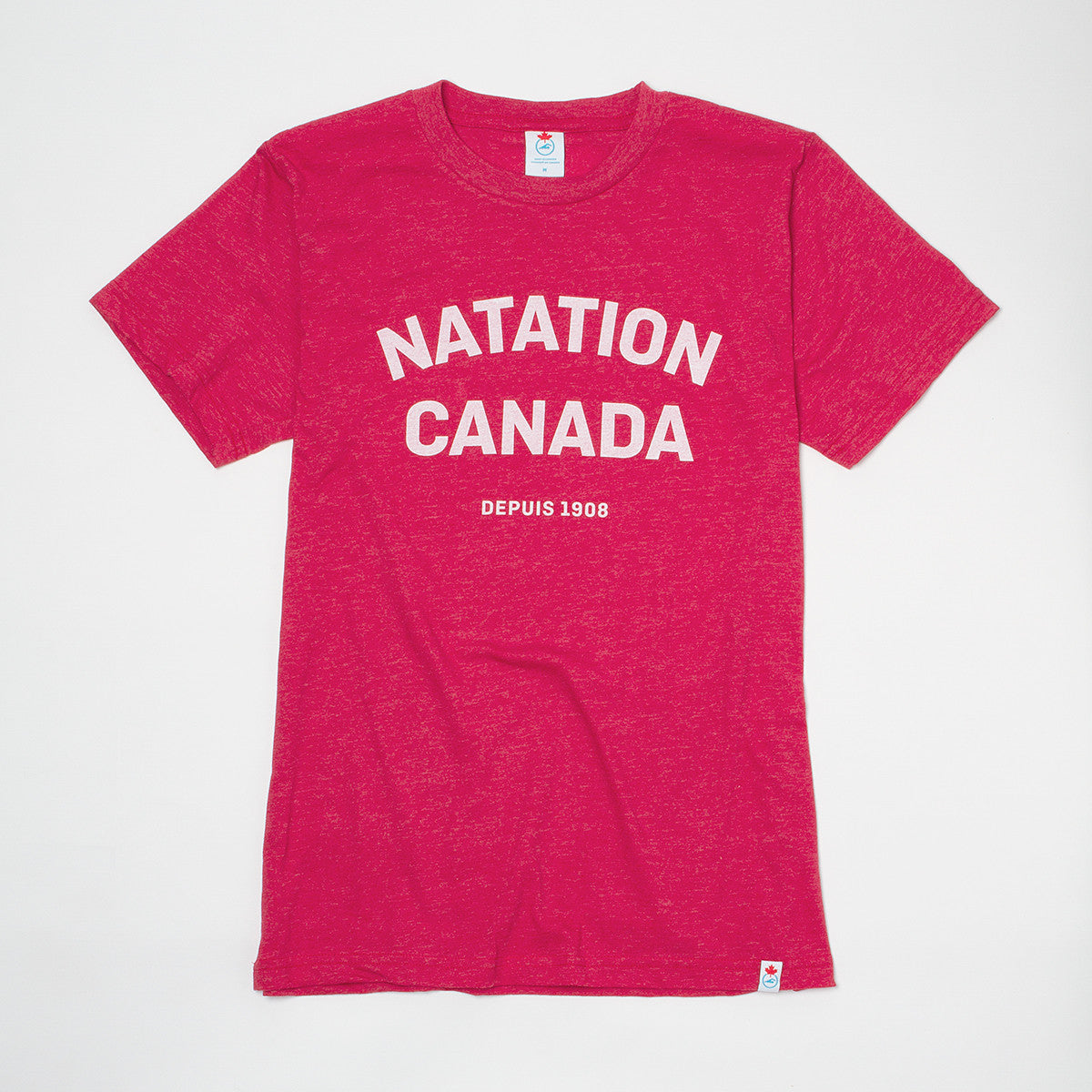 Men's Natation Canada Heather Red Short Sleeve T-shirt