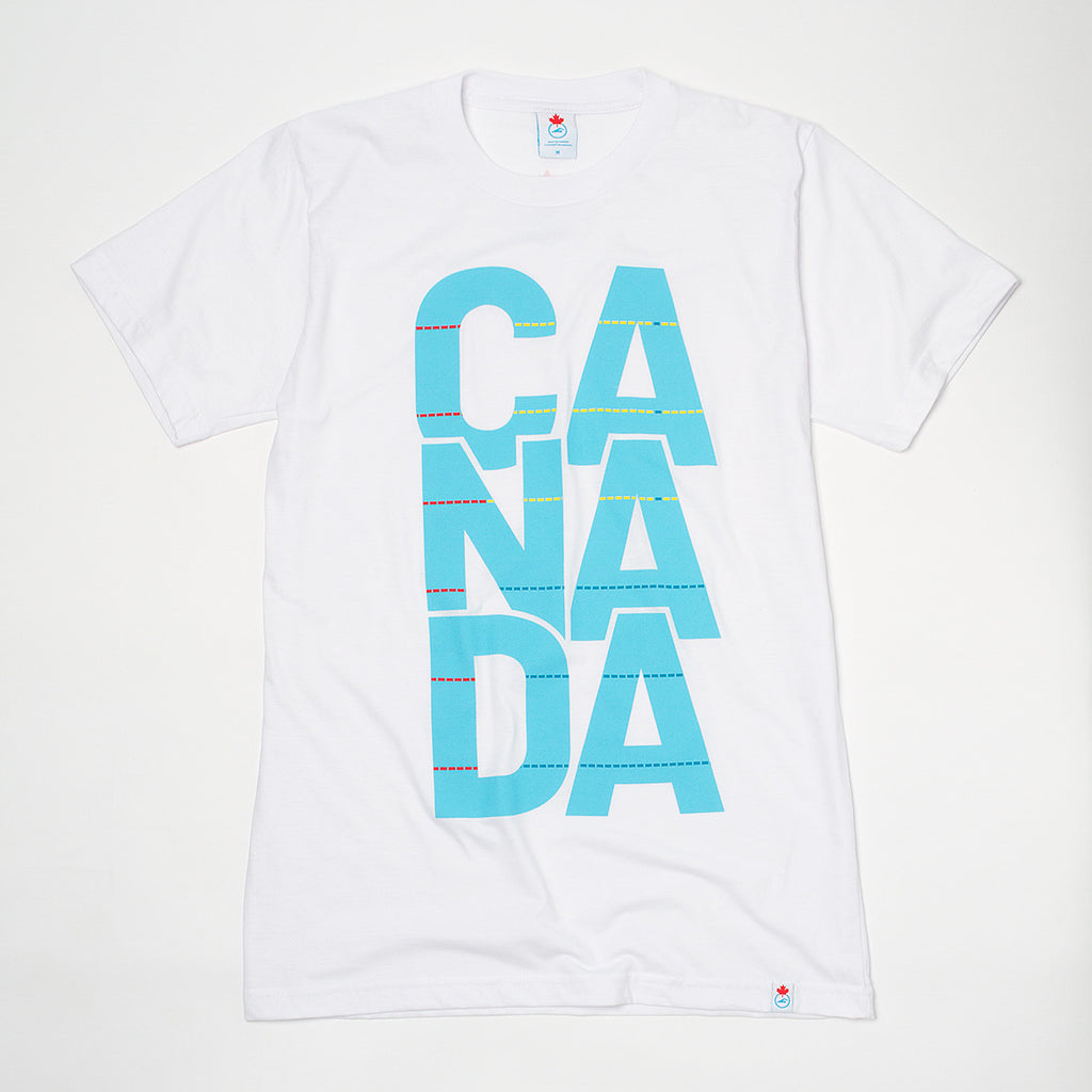 Men's CANADA  Pool Graphic T-shirt White