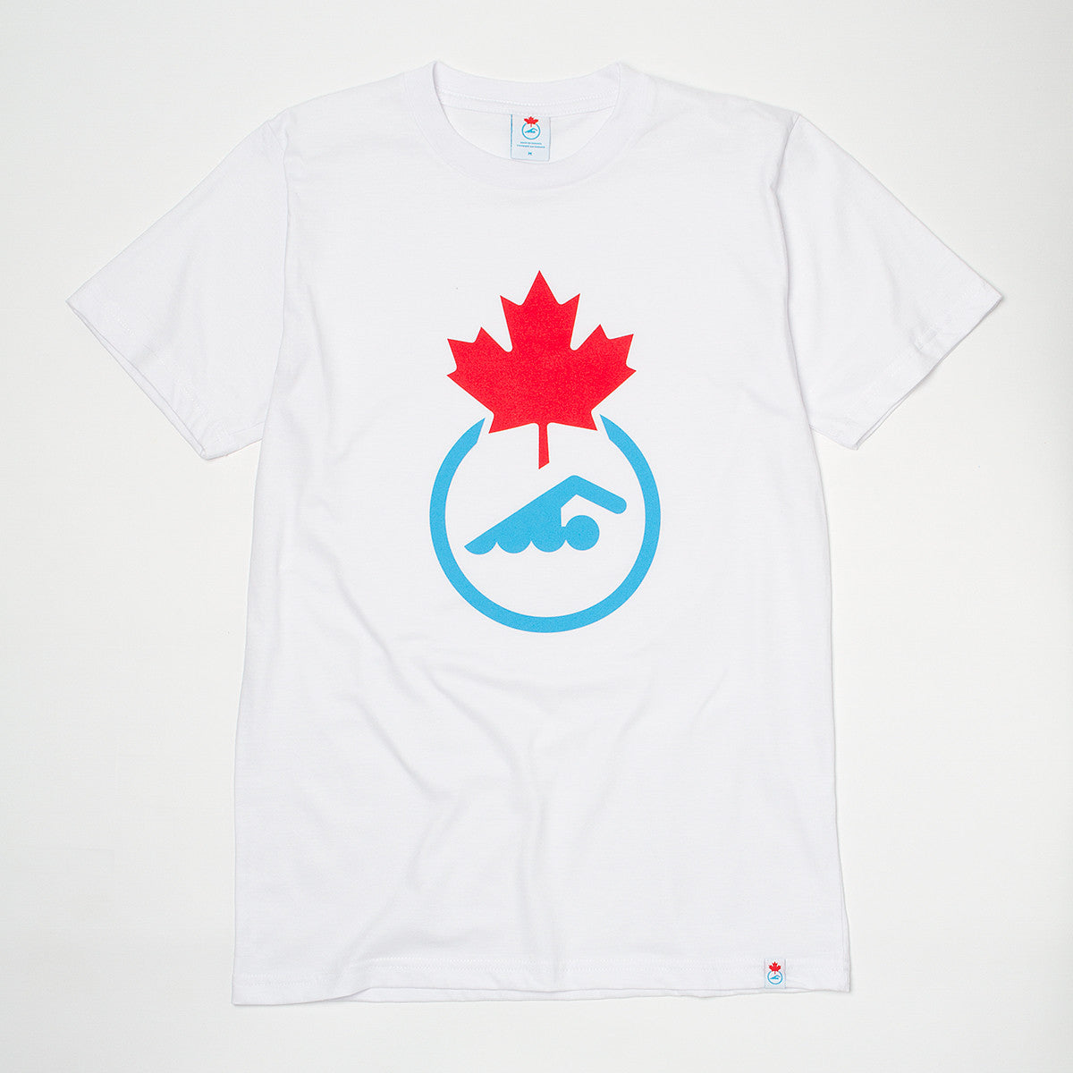 Men's Swimming Canada Logo White short sleeve T-shirt