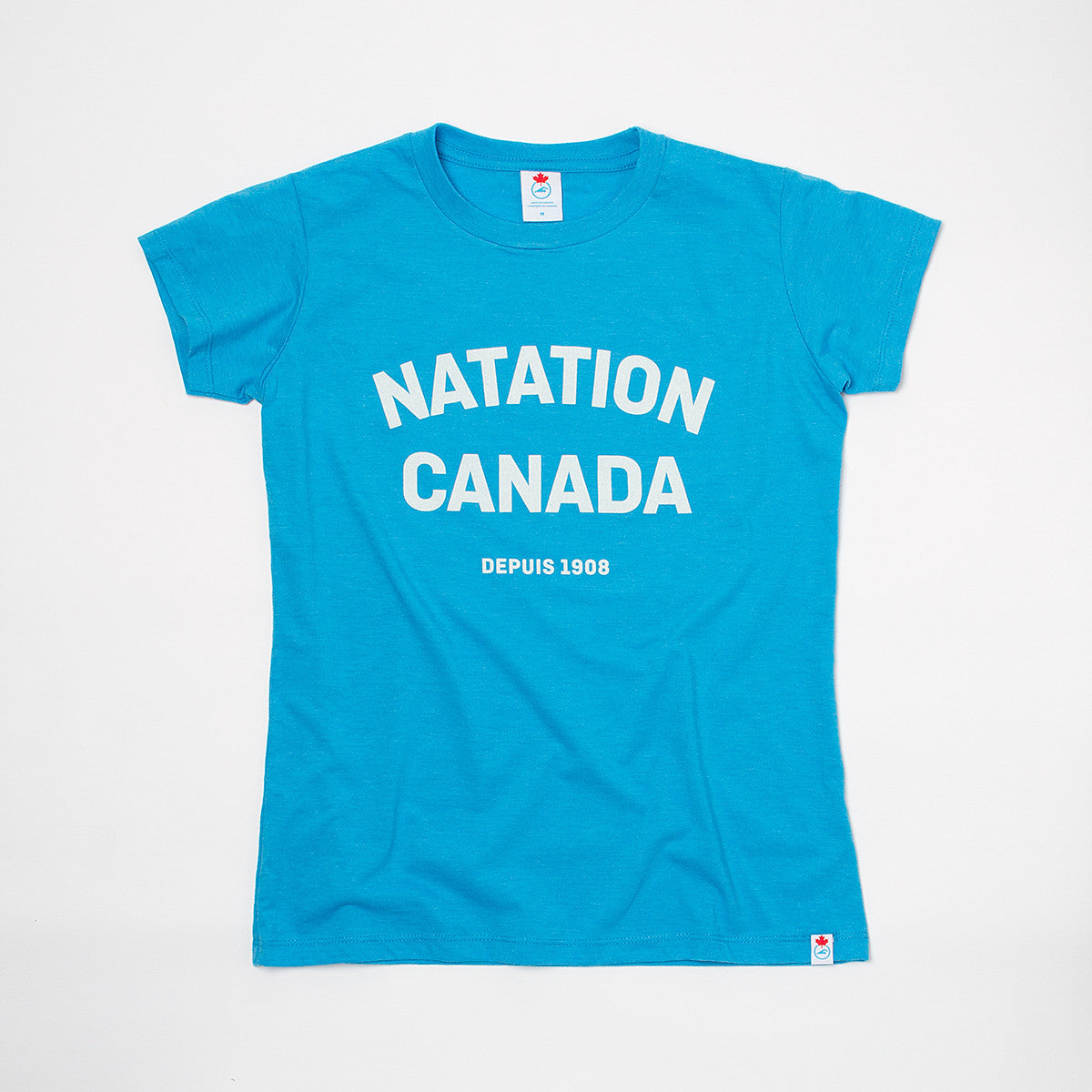 Women's Natation Canada Heather Blue Short Sleeve T-shirt